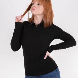 5716-01 рубашка поло черная