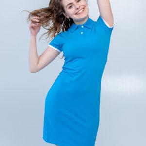 Платье поло Твоеполо бирюзовое