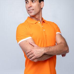 Футболка Твоеполо оранжевая