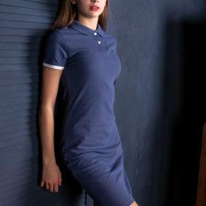 Платье поло Твоеполо синий джинс
