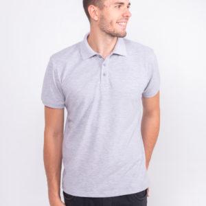 светло-серая футболка поло