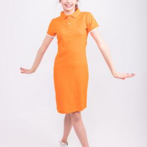 оранжевое платье ТвоеПоло
