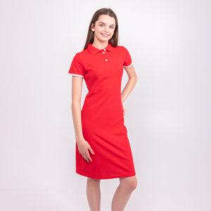 красное платье ТвоеПоло