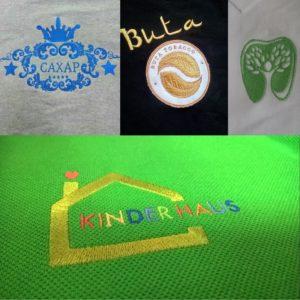 Вышивка логотипа на футболке Вышивка лототипа на заказ Киев