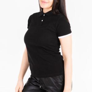 футболка поло черная