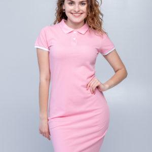 Платье поло Твоеполоо розовое