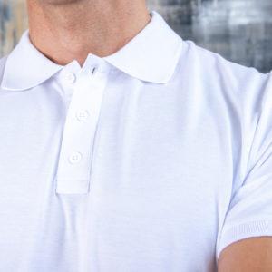 PREMIUM class Белая футболка поло