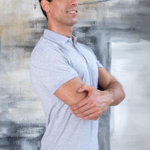 PREMIUM class Серый меланж футболка поло