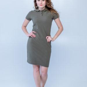 Платье поло Твоеполо хаки