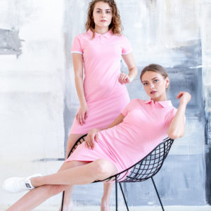 Платье поло Твоеполо розовое