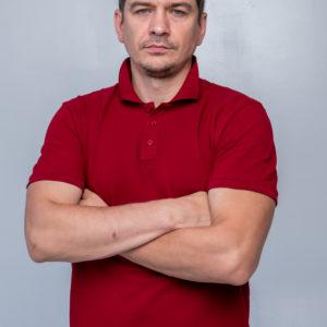 PREMIUM class Бордовая футболка поло