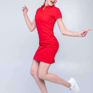 Платье поло Твоеполо красное