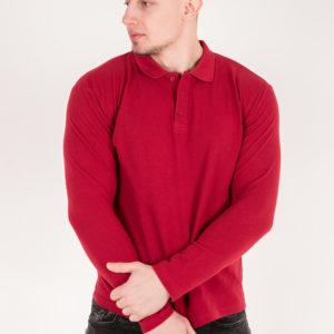 5719-13 Рубашка поло бордовая