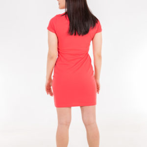 6715-23 Платье поло коралловое