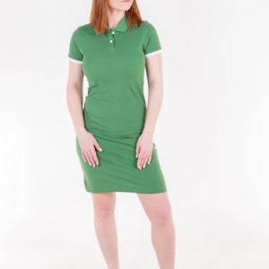 6717-76 Платье поло зеленое