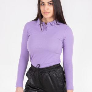 5716-15 рубашка поло сиреневая