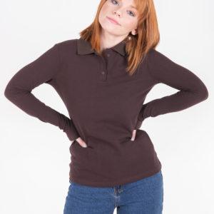 5716-18 рубашка поло коричневая