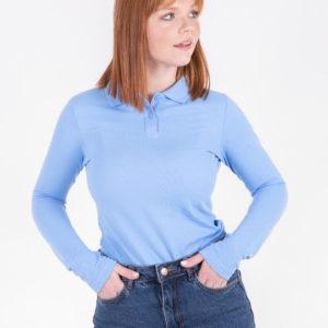 5716-22 рубашка поло голубая