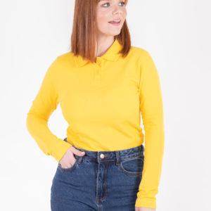 5716-44 поло рубашка желтая