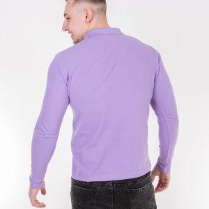 Сиреневая рубашка поло