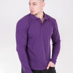 5719-24 Рубашка поло баклажановая