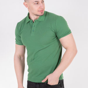 5720-76 футболка поло зеленая