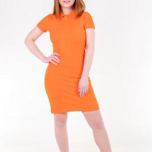 6715-05 платье оранжевое