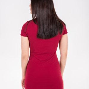 6715-13 платье поло бордовое