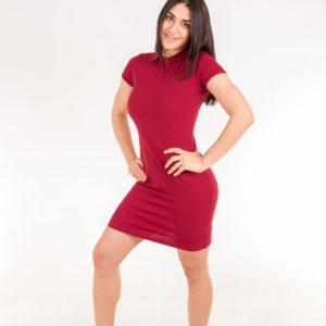 платье поло бордовое
