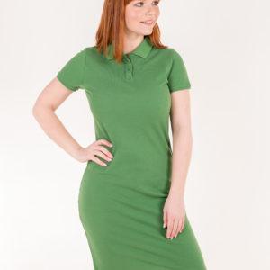 6715-76 Платье поло зеленое