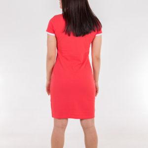 6717-23 Платье поло коралловое