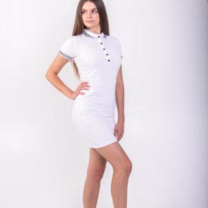 Белое платье поло Твоеполо