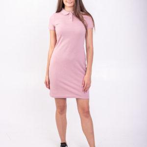 Платье поло пудровое