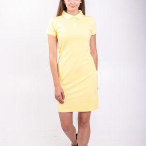 Платье поло желтое