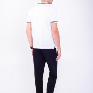 Белая футболка поло